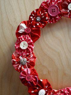 Valentine's Day wreath.