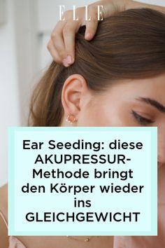 Dank Ear-Seeding entspannter sein, besser schlafen und Kopfschmerzen loswerden? Ob und wie das funktioniert, verraten wir jetzt auf ELLE.de! Monat, Tricks, Beauty, Lose Belly Fat, Sleep Better, Healthy Diet Foods, Boost Metabolism, Beauty Illustration