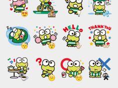 Kero Kero Keroppi Stickers Set | Telegram Stickers