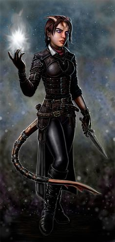 I want to play a tiefling based on this picture. A spontaneous caster of some kind. I like making characters!