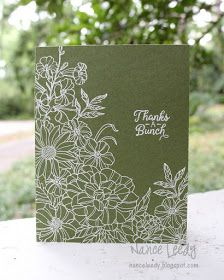 Canopy Crafts: A Clean and Simple Corner Garden - Flower Stamp, Flower Cards, Paper Cards, Diy Cards, Laser Cut Paper, Karten Diy, Corner Garden, Embossed Cards, Greeting Cards Handmade