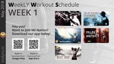 Weekly Workout Schedule, Dog Pounds, Beast Mode, Fun Workouts, How To Plan, Tv, Television Set, Television