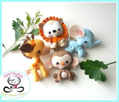 Wild Baby Animals set of Four-PDF sewing
