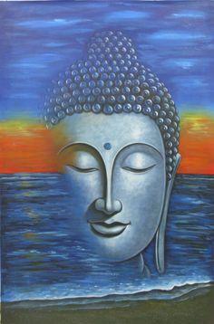 Mahanirvana 02 - Handpainted Art Painting - X Buy Paintings Online, Online Painting, Gautama Buddha, Buddha Art, Acrylic Colors, Country Of Origin, Canvas Art, Museum, Hand Painted