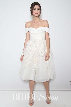 BHLDN Off-the-Shoulder Short Wedding Dress