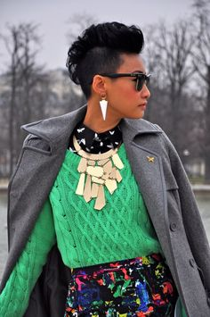 Esther Quek- Statement necklace and earrings #Accessories
