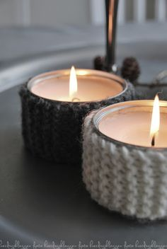 DIY tea lights, maybe use old sweaters instead?