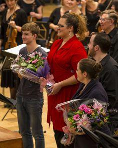 Soloists receiving flowers after the Britten War Requiem Concert in November 2013