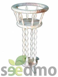 #Muebles y #decoración macetero 1 pie con 4 columna compra Online.