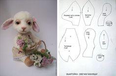 DIY Little Felt Lamb Softie - FREE Sewing Pattern / Template Doll Toys, Free Sewing, Sewing Patterns Free, Free Pattern, Beren, Plushie Patterns, Doll Patterns, Softies, Plushies