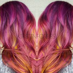 People are painting the colors of the sunset into their hair. | Sunset Hair Has Arrived And It's Drop Dead Beautiful