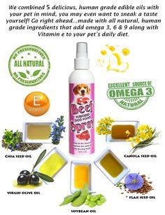 All Natural Dog Food, Holistic Dog Food, Chia Seed Oil, Edible Oil, Oils For Dogs, Dry Dog Food, Omega 3, Vitamin E, Dog Food Recipes