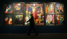 "Emile Nolde's ""Das Leben Christi"" (1911/12, Life of Christ) at the Städel Museum."