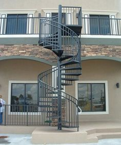Charmant Black Exterior Spiral Staircase