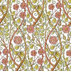 Briar Rose fabric by peacoquettedesigns on Spoonflower - custom fabric Briar Rose, Custom Fabric, Spoonflower, Craft Projects, Yard, Colorful, Costumes, Quilts, Printed