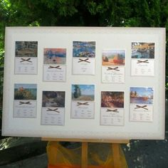 "Tableau de mariage a tema ""l'arte di Monet"""