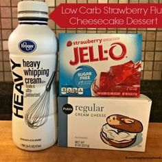 Recipe: Low-Carb Strawberry Fluff Cheesecake Dessert How To Cook Lamb, Cooking Lamb Chops, Cooking With Ground Beef, Vodka Bottle, Strawberry Fluff, Healthy Dinner Options, Healthy Protein Snacks, Coffee, Drinks