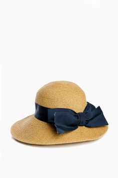 8a0d4b3d4 Jocelyn Toucan Hats Navy Packable Wide Bow Sunhat Preppy Summer Outfits,  Build A Wardrobe,