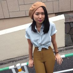 Simple and classic look from Haruka in Japan! #AmericanApparel