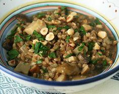 farro risotto with mushrooms