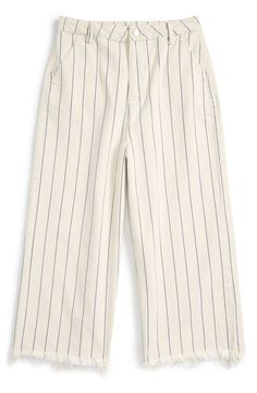 Pin for Later: 35 Stylish Items You Won't Regret Wearing on the Plane  Topshop Pinstripe Frayed Culottes ($70)