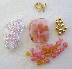 Golden Cherry Quartz Jade Glass Seed Beads by CatsBeadKitsandMore, $8.99
