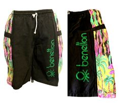 Benetton United Colours Vintage Board Shorts swimming trunks Bright L XL Benetton, Swim Trunks, Gym Men, Pajama Pants, Pajamas, Swimming, Colours, Bright, Shorts