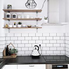 Nordic kitchen, subway tiles