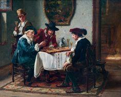 Friedrich Albert Schröder, A Game of Backgammon
