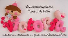 Las cositas de Pepita: Nombres de Fieltro Divertidos y Originales