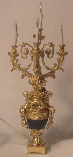 Louis XVI Lighted Candelabra by Robert Dawson