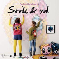 Strik & mal, grafisk gobelinstrik, 10 opskrifter til børn str 2-8 år fra Charlotte Kaae, www.bykaae.dk