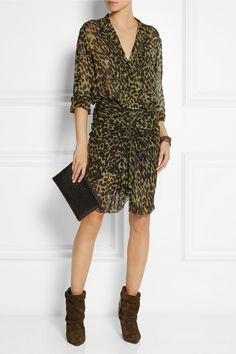 Étoile Isabel Marant | Charley leopard-print chiffon blouse | NET-A-PORTER.COM