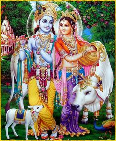 """🌺 SHRI KRISHNA GOVINDA ॐ 🌺 """"Those who are saturated with the transcendental happiness of rendering service to the Supreme Personality of Godhead are uninterested even in the achievements of great mystics, for such achievements do not enhance the. Hare Krishna, Krishna Leela, Jai Shree Krishna, Radha Krishna Photo, Radha Krishna Love, Jai Hanuman, Shree Ganesh, Lord Krishna Images, Radha Krishna Pictures"""