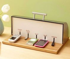 This is exactly what I want to keep all the phones/iPads off the kitchen table!