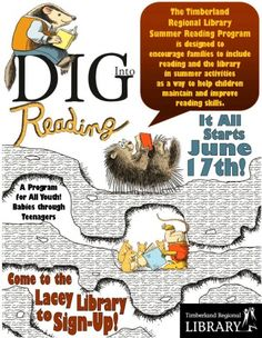 Info Sheets for School Visits: Dig Into Reading! Summer 2013
