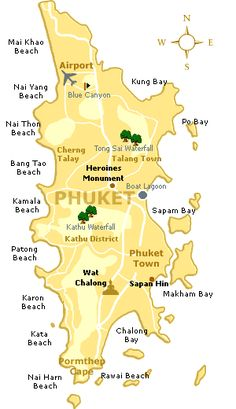 Phuket Island - Gina and Rachel had a great time here--until it started raining! (THAI TWIST, Assent Publishing)