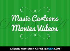 Music cartoons movies videos