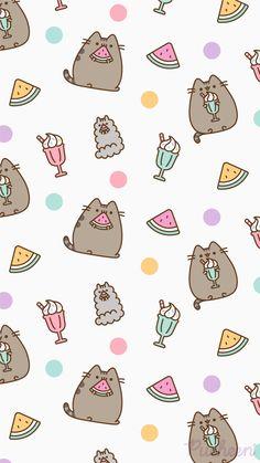 Beautiful Wallpaper For Phone, Cute Pastel Wallpaper, Wallpaper Wa, Drawing Wallpaper, Iphone Wallpaper Kawaii, Aesthetic Iphone Wallpaper, Cute Cartoon Wallpapers, Pretty Wallpapers, Pusheen Love