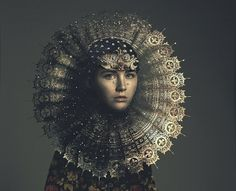 Renaissance dandelion on Behance.a fantastic Photoshop job to make this image starting with a very natural looking girl. Madonna, Lumiere Photo, Portrait Photography, Fashion Photography, Foto Fashion, Fashion News, Illustration Art, Illustrations, Portraits