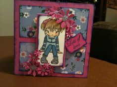 Sugar Nellie manga stamp. Card by Sherie