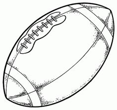 Football Coloring Page Pages Sports Printable