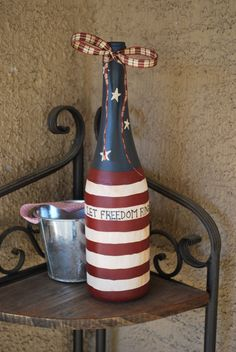 Let Freedom Ring Bottle by BuckyWallflower on Etsy, $25.00