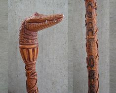 Walking Sticks and Canes hand carved by Joe Miller Woodcarver of Fort Pierce…