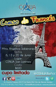 Curso de Francés. Inicia 6 de Junio en #CENUA San Lorenzo cupo limitado