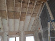 Working on Spraying this cute little addition with some spray foam insulation!