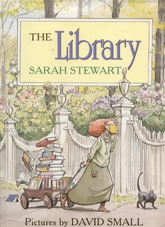 The Library by Sarah Stewart -- an older book (1995), but one of my favorites. With words like attending, incredible rate, doodled, manufactured, etc., it makes a great mentor text for vocab.
