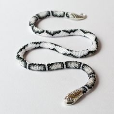 White snake necklace Gothic choker Snake bead necklace 21st | Etsy