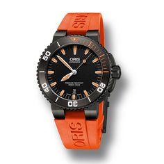 65dc0b199ba ORIS Aquis Date Orange The colour of the deep - See more at En Fr