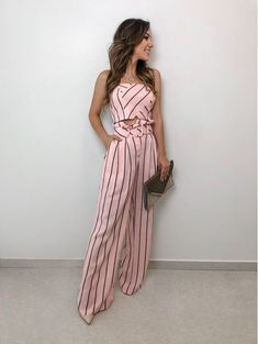 Holiday Outfits, Summer Outfits, Prom Jumpsuit, Crop Top And Shorts, Colourful Outfits, Wide Leg Jeans, Ideias Fashion, Women Wear, Clothes For Women